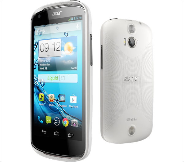 Acer has shown off a new smartphone it's calling the Liquid E1
