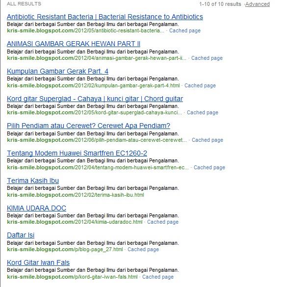 Blog Kita Dimata Search Engine