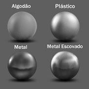 Você pode, através do seu desenho, especificar do que é feito o seu objeto.