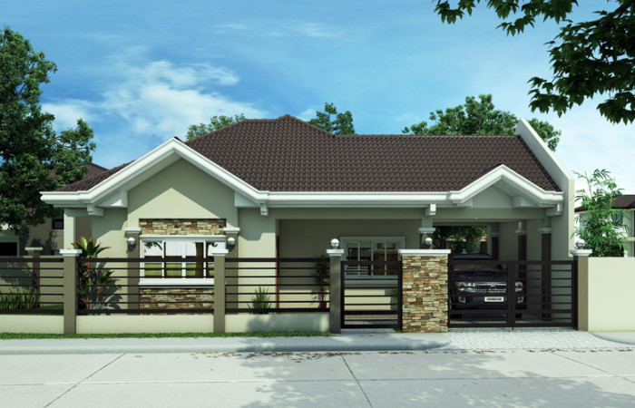 Free lay out and estimate philippine bungalow house for Model house bungalow type