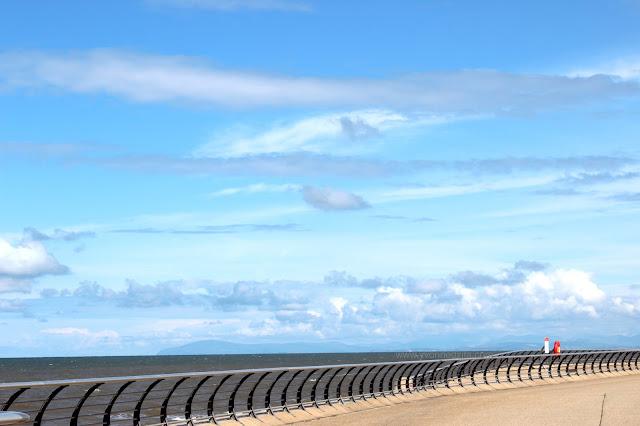 Blackpool North Pier Pavement and Sea