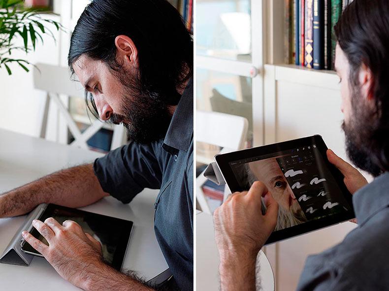Artista pinta con sus dedos cuadros surrealistas en su iPad