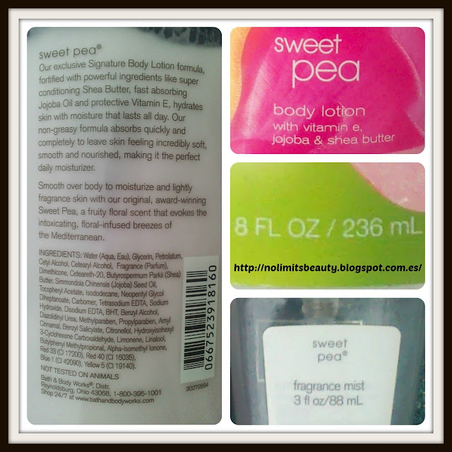 Sweat Pea de Bath & Body Works: ingredientes y detalles