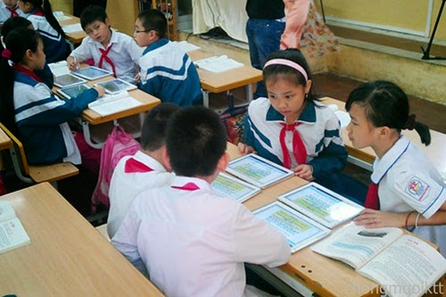 Máy tính bảng hổ trợ học sinh tiếp cận kiến thức nhanh hơn