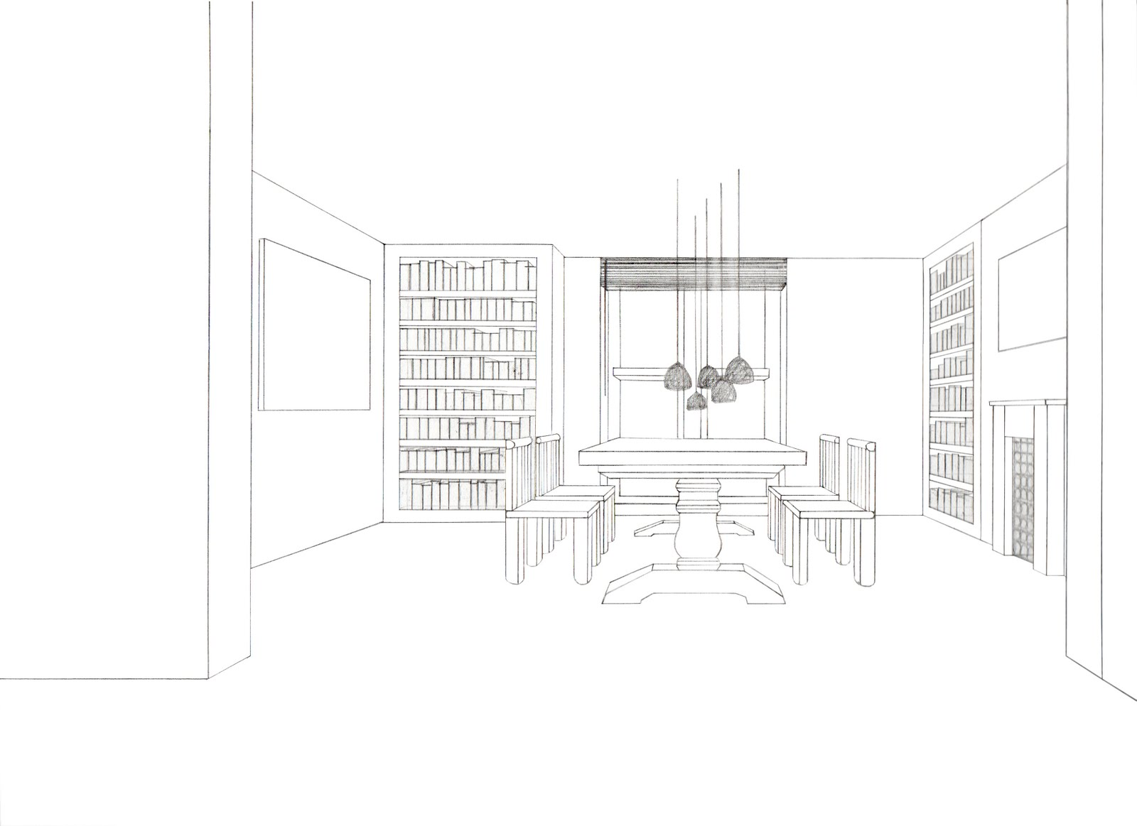 Alesya bolotina set designer model maker the for Dining room drawing