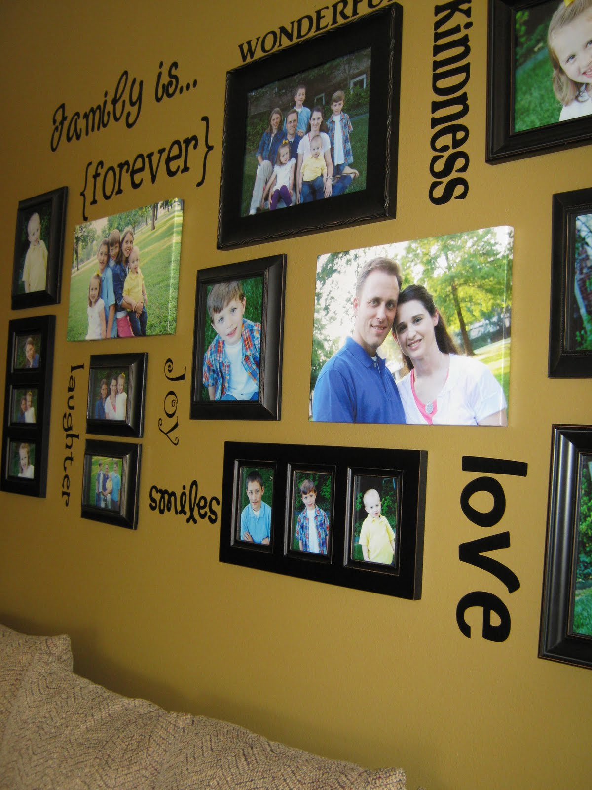 ginger snap crafts fab friday family wall