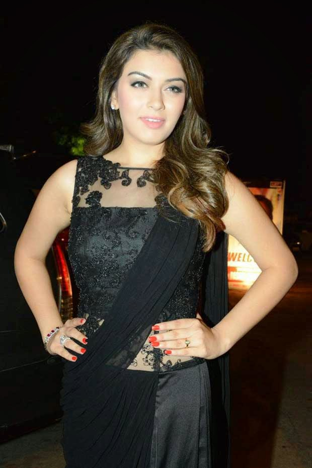 Hansika In Sheer Neck Blouse