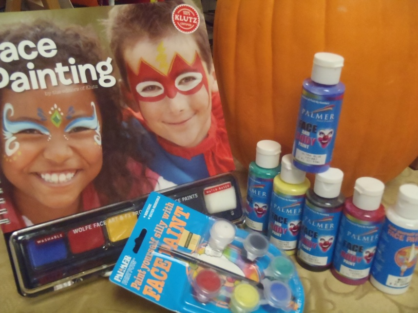 Artists 39 mediums blog are you ready for halloween for Face paints supplies