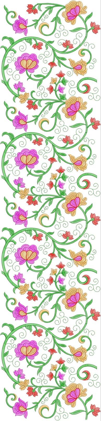 Embdesigntube 250 Mm Ahmadabadi Jaal Embroidery Design