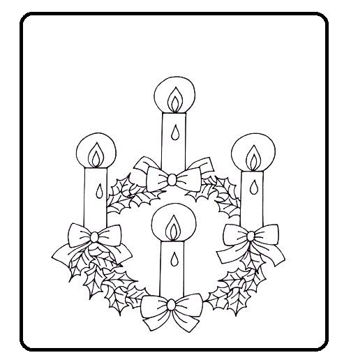 El Rincón de las Melli: Corona de Adviento para colorear