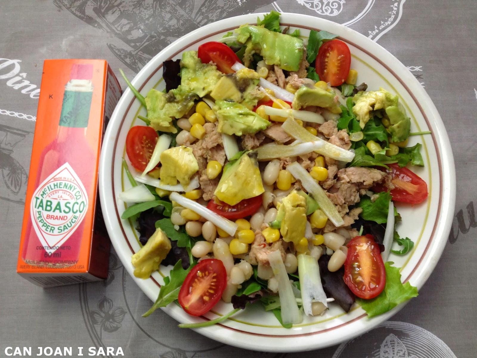 Ensalada de alubias y aguacate recetas de cocina - Ensalada de alubias ...