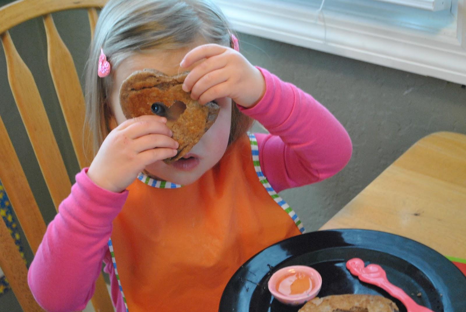 how to make heart shaped pancake