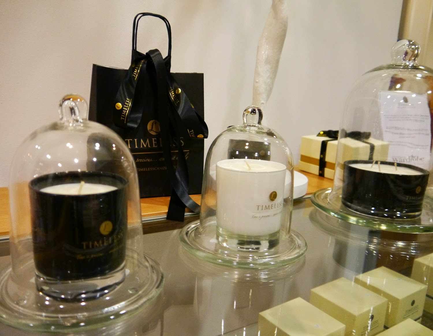 Wear Eponymous, The Wardrobe, Glasgow Fort, Glasgow Pop Up Shop, Shop Display, Scottish Design, Timeless Candles,