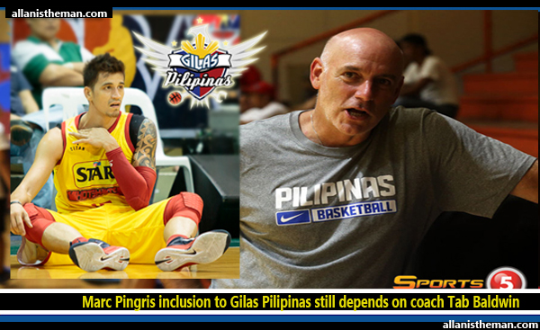 Marc Pingris inclusion to Gilas Pilipinas still depends on coach Tab Baldwin