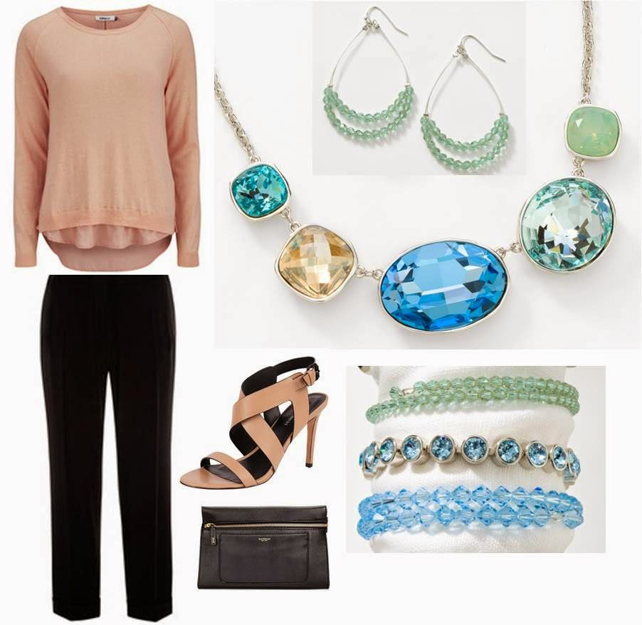 3 everyday looks with the sea glass necklace touchstone crystal add a few bracelets for a wrist party and youve got yourself a sassy outfit for girls night solutioingenieria Images