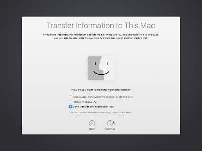 Transfer data OS X El Capitan