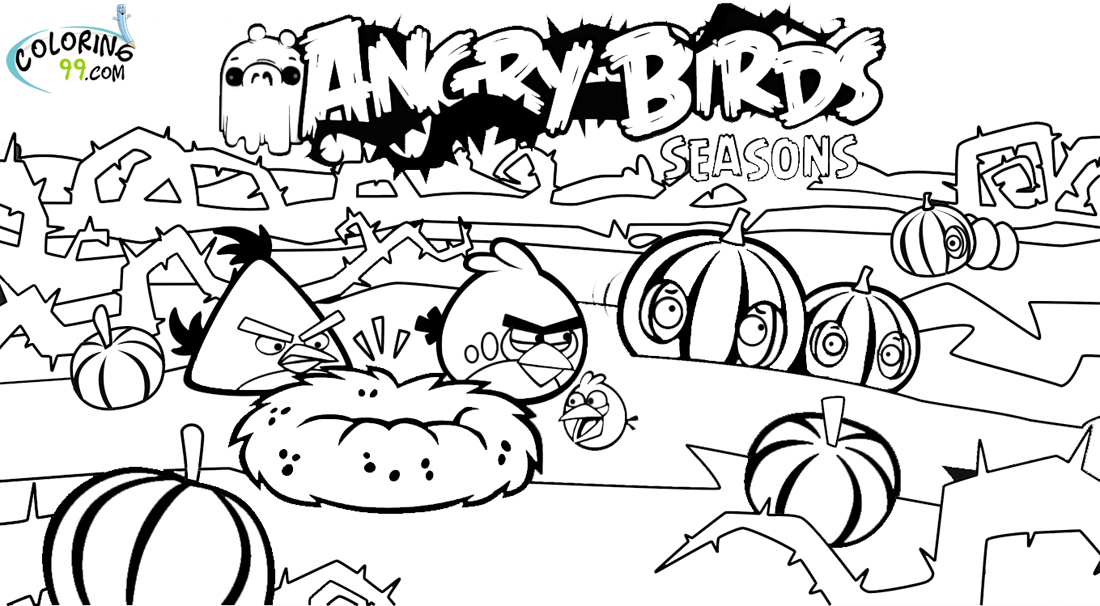 Angry Birds Season Coloring Pages