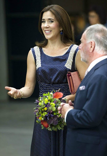 Crown Princess Mary visit the Copenhagen International Fashion Fair