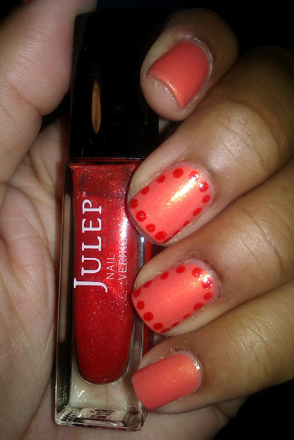 Julep, Georgia, Mischa, frame nails, nail art, nail design, mani
