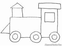 Menggambar Dan Mewarnai Kereta Api
