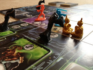 Ghosts moving in Ghost Stories board game