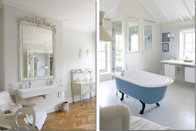Vasca da bagno co shabby chic interiors - Non vado in bagno ...