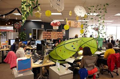 Fotos do escritório do Facebook