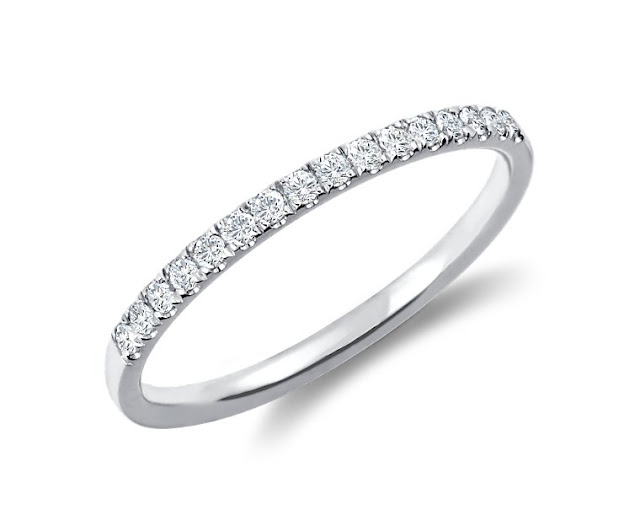 Petite Cathedral Pavé Diamond Ring