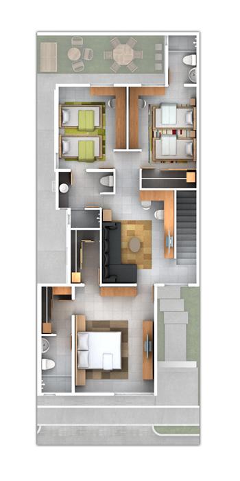 Planos de casas y plantas arquitect nicas de casas y for Departamentos minimalistas planos