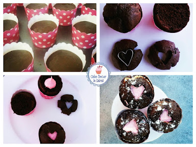 Chocolate and Strawberry heart cupcakes for Mother's day. Easy tutorial for kids in the kitchen.