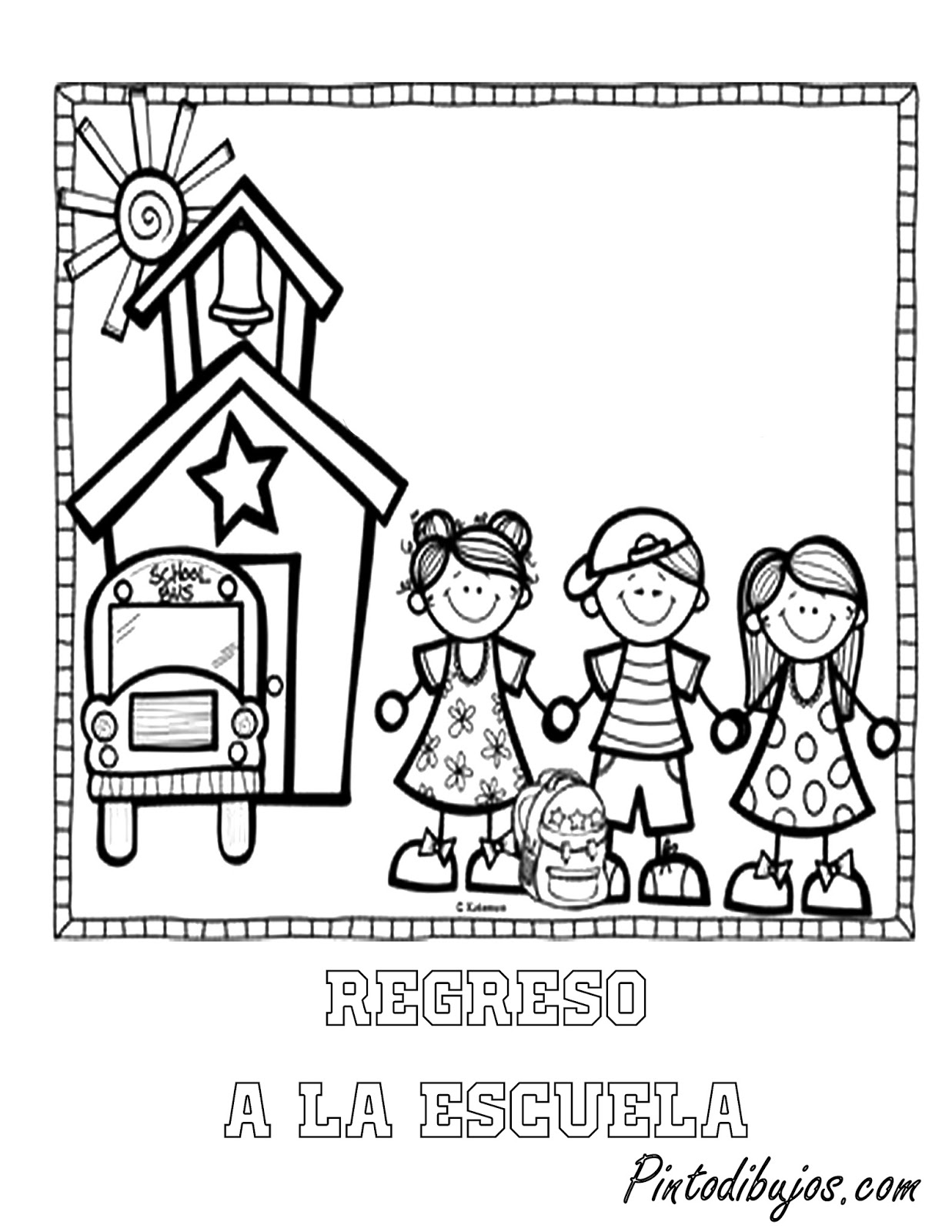 Vistoso Escuela Para Colorear Molde - Ideas Para Colorear ...