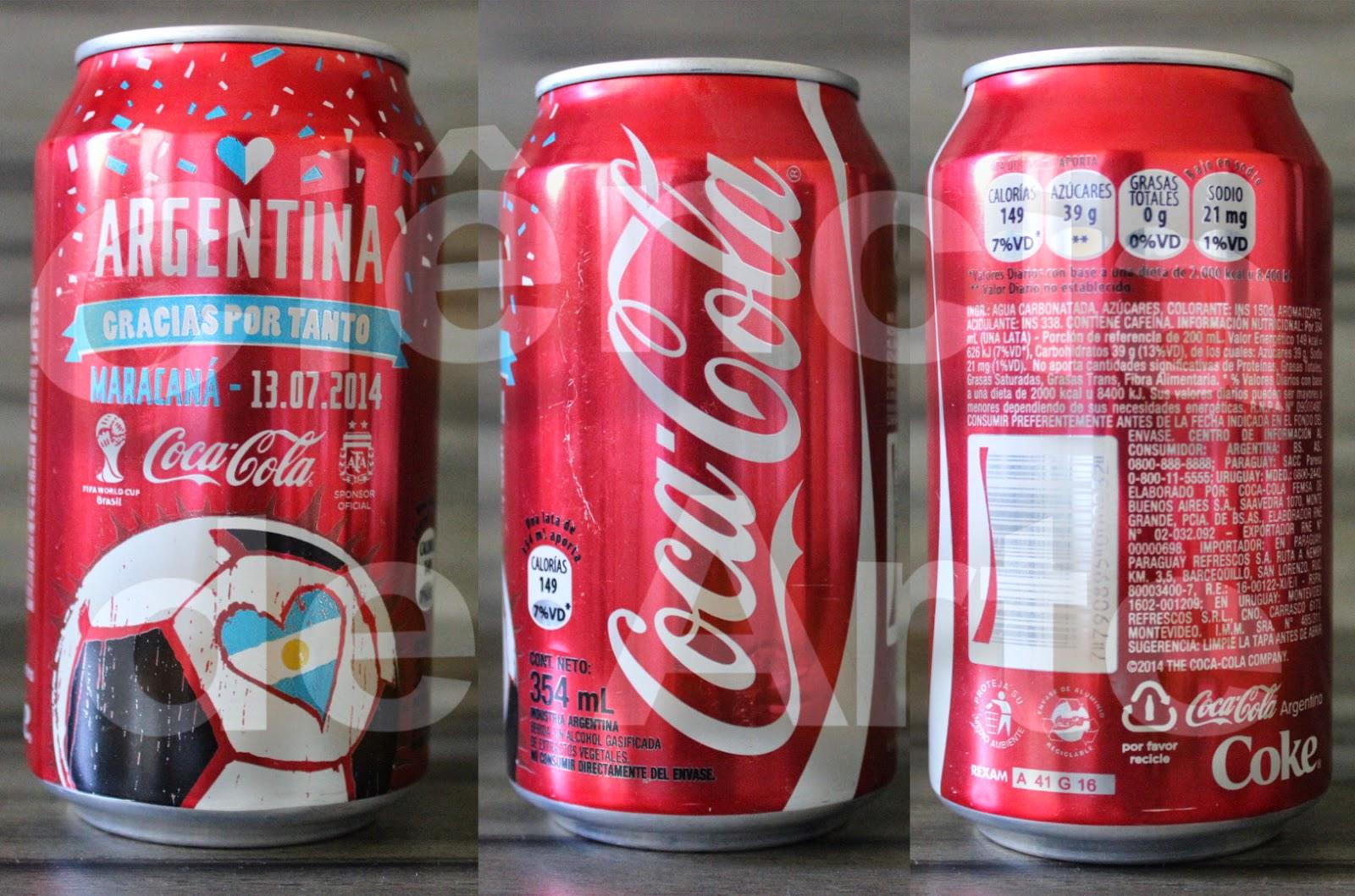 Promoção Coca Cola: a latinha que enaltece a Argentina 1