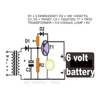 cheap emergency light circuit diagram using a flashlight bulb rh schematicanddiagram blogspot com 6 Volt Electronic Flasher Diagram 6 Volt Flasher Wiring