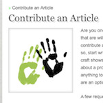 Contribute an Article on IBH