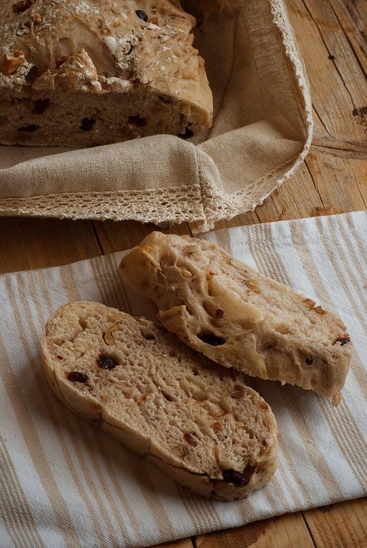 pan de nueces y arándanos