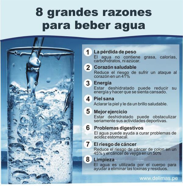 Psicologos peru 8 razones para beber agua infografia - Agua para beber ...
