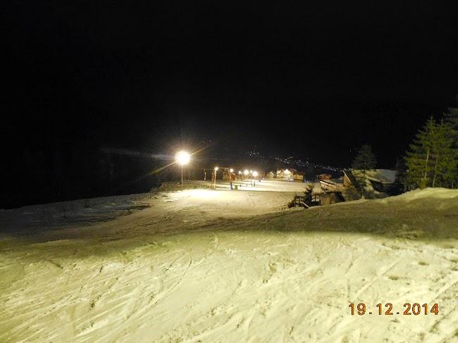 ski in nocturna pe Platoul Soarelui la Straja