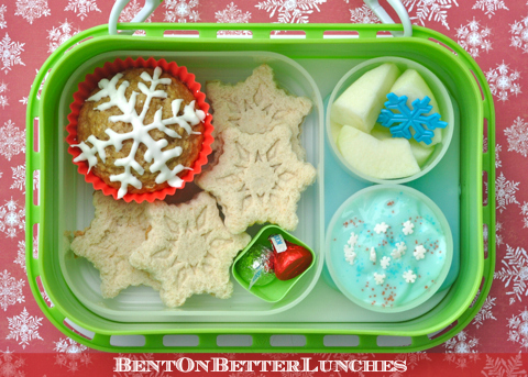 Winter snowflake bento school lunch