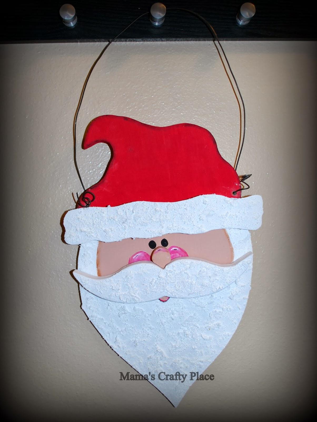 Pin It & Mamau0027s Crafts: Santa Door Hanger