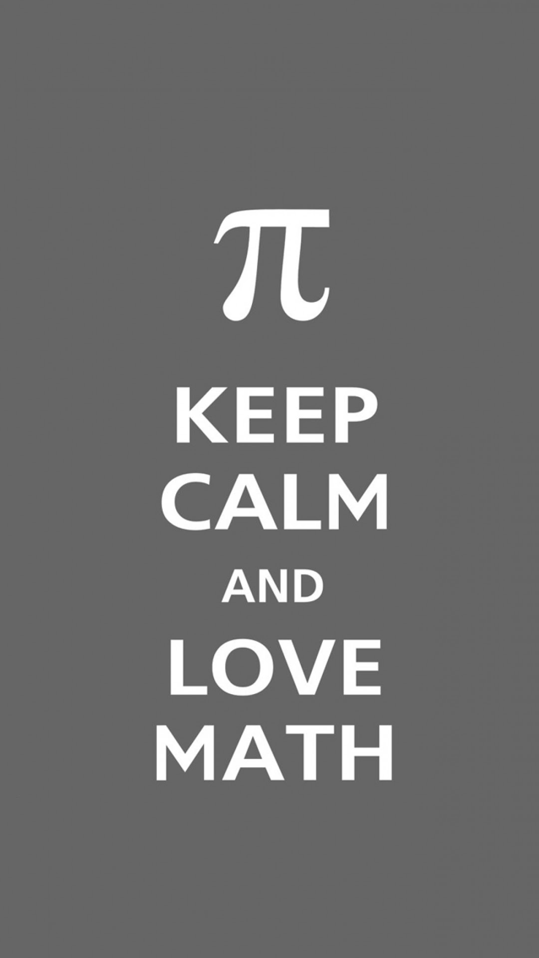 android best wallpapers: pi keep calm and love math typography