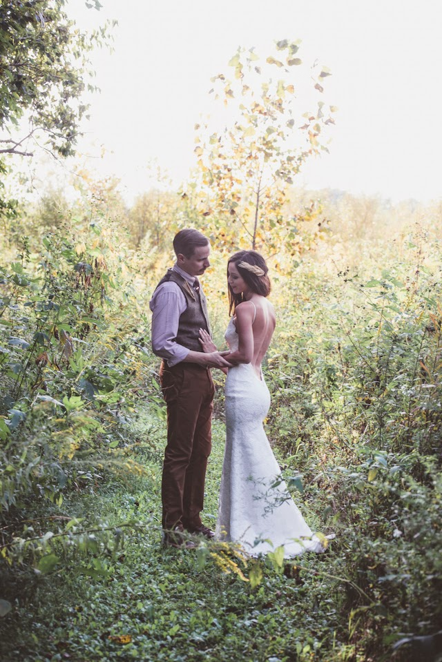 real bride wearing katie may poipu from a seattle bridal boutique