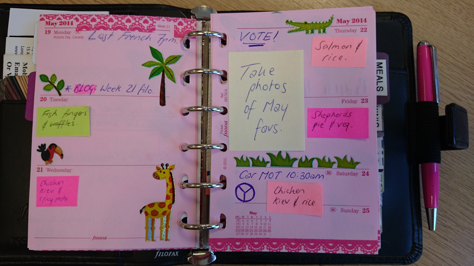 filofax pocket week 21 decoration washi tape zoo animal stickers youtube channel video