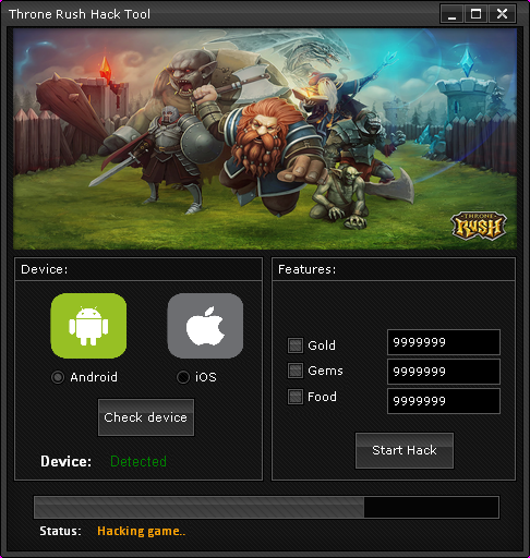 Throne Rush Hack Cheat Tool 2014