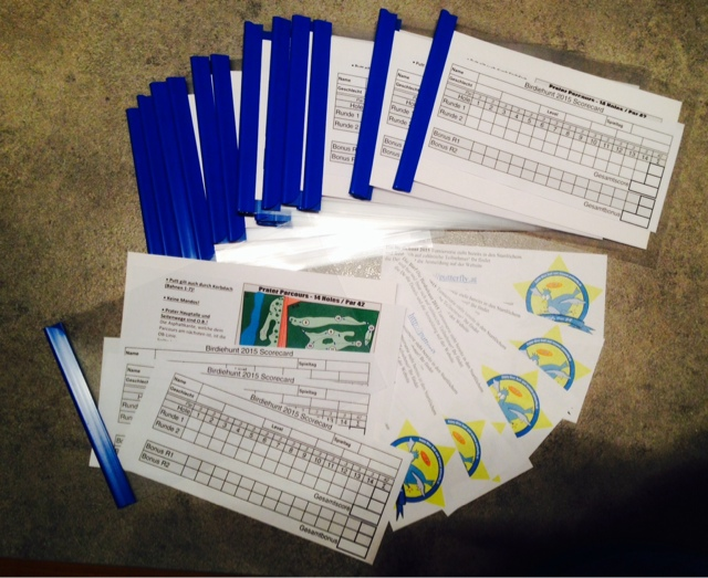 Putterfly Disc Golf Scorecardmappen