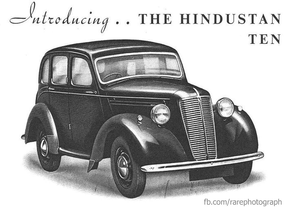 Rare Photograph: First Indian made Car - Hindustan-10 (1950)