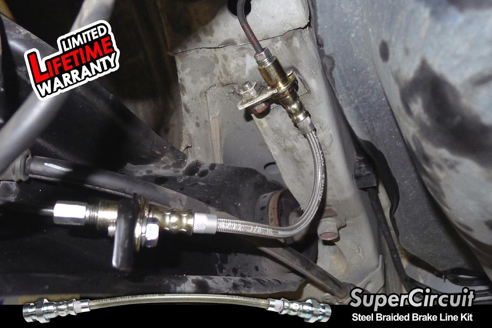 Steel Braided Brake Lines Installed : Supercircuit steel braided brake lines proton inspira