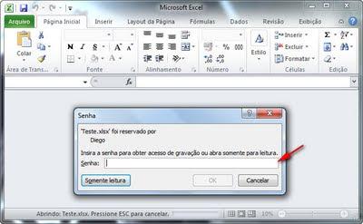 Excel 2010 - Senha de gravação