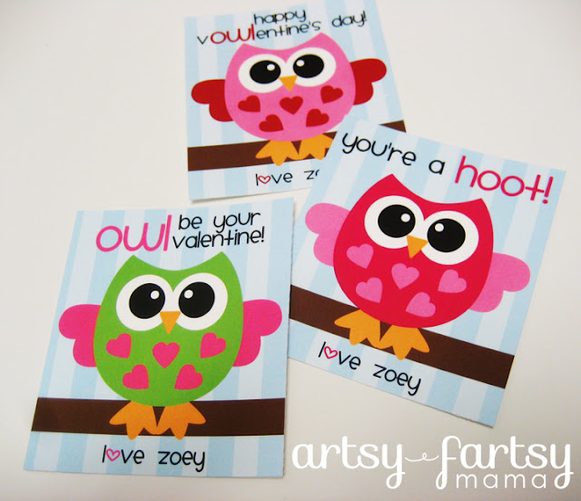 Free Printable Owl Valentines – Owl Valentines Day Cards