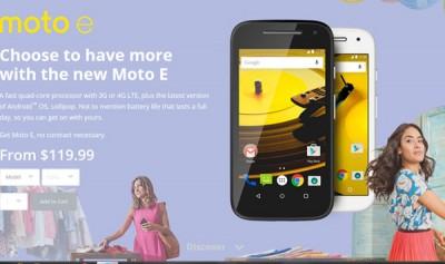 Motorola Moto E (2015) Mulai Dipasarkan