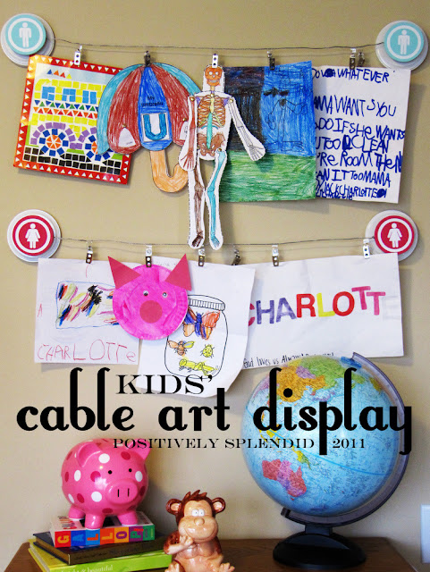 Cable art displays in the pages of your pottery barn kids catalogs